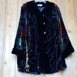 Chic Velvet Art Deco Style Jacket